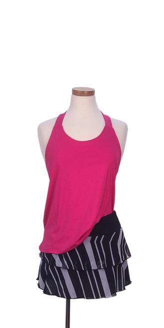 PT1025 Diana Tank Pink with PT0113 Marina Chevron Skirt