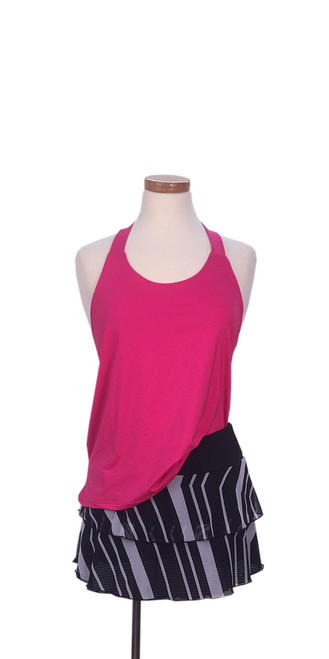 PT1025 Diana Tank Pink with PT0113 Marina Chevron Skirt