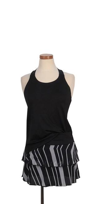 Diana Tank Black with Chevron Mesh Skirt