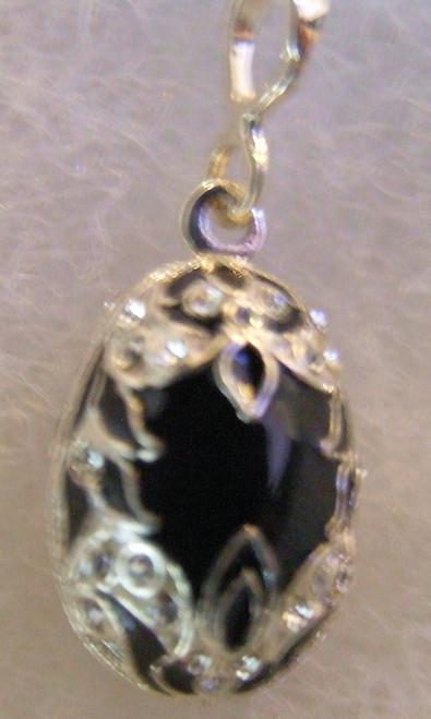 Jewelry faberg faberge egg pendants page 1 olgas russian silver russian handmade faberge egg pendant pd 11 058 black enamel aloadofball Choice Image