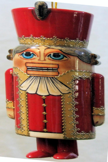 Exclusive Russian Hand Painted Nutcracker Christmas Ornament Made From Wood