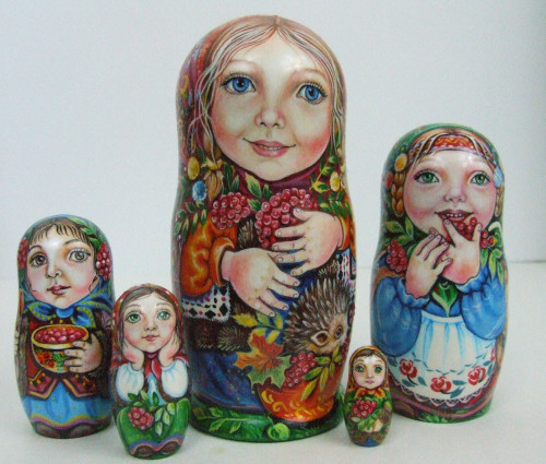 """Girls with their Kiwi and Berries"", by Ludmila Chmelyova"