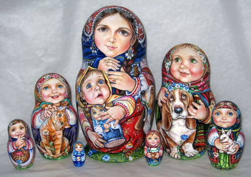 Mother and Her Family by Ludmila Chmelyova
