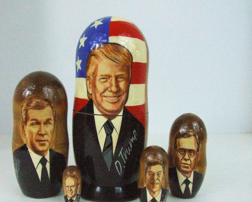 5pcs Handmade Russian Nesting Doll of President Trump and Republican Predecessors
