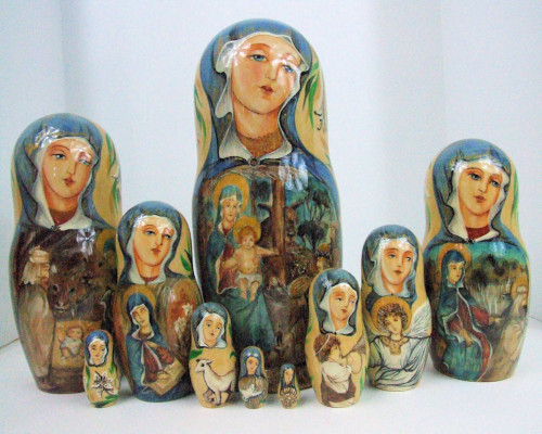 "10pcs Hand Painted One of a Kind of ""Christ's Nativity"""