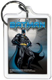 """DC Comics Batman Standing 3"""" x 2"""" Officially Licensed Lucite Double Sided Keycha"""