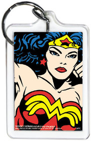 "DC Comics Wonder Woman Close-Up 3"" x 2"" Officially Licensed Lucite Double Sided"