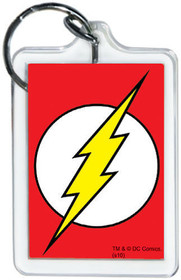 "Officially Licensed DC Comics The Flash Logo 2"" Double Sided Lucite Keychain"