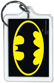 "DC Comics Batman Logo 3"" x 2"" Officially Licensed Lucite Double Sided Keychain"