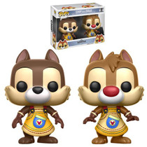 Unlock the light with the help of a familiar friend! From the Kingdom Hearts video game series comes Funko-tastic Chip and Dale figures. Each measuring approximately 3 3/4-inches tall, this Kingdom Hearts Chip and Dale Pop! Vinyl Figure 2-Pack comes packaged in a window display box. Ages 3 and up.