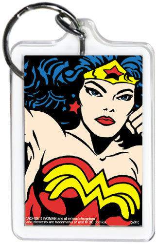"""DC Comics Wonder Woman Close-Up 3"""" x 2"""" Officially Licensed Lucite Double Sided"""