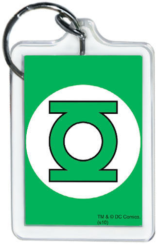 """DC Comics Green Lantern Logo 3"""" x 2"""" Officially Licensed Lucite Double Sided Key"""