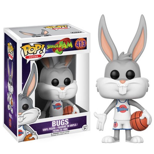 Get ready to jam! Get ready for the ultimate game with a familiar character from 1996's Space Jam. This Space Jam Bugs Bunny Pop! Vinyl Figure measures approximately 3 3/4-inches tall and comes packaged in a window display box. Ages 3 and up.