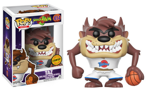 Get ready to jam! Get ready for the ultimate game with a familiar character from 1996's Space Jam. This Space Jam chase version Taz Pop! Vinyl Figure measures approximately 3 3/4-inches tall and comes packaged in a window display box. Ages 3 and up.