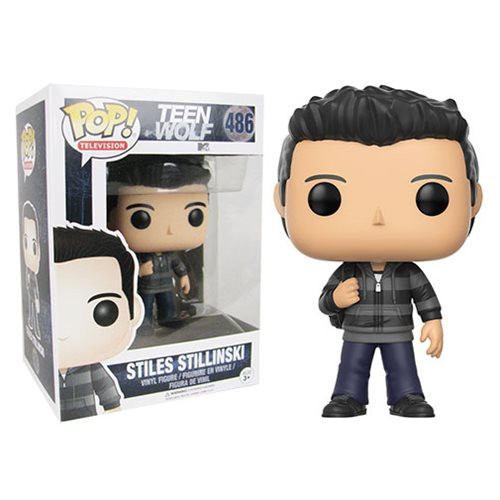 Teen Wolf Stiles Stilinski Pop! Vinyl Figure Expand your pack with the Teen Wolf crew! The hit MTV series Teen Wolf has received the Pop! Vinyl stylization treatment. This Teen Wolf Stiles Stilinski Pop! Vinyl Figure measures approximately 3 3/4-inches tall and comes packaged in a window display box. Ages 3 and up.
