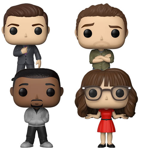 New Girl Funko POP! TV Complete Set of 4 Vinyl Figure