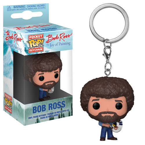 Joy of Painting Funko Pocket POP! TV Bob Ross Keychain