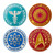 Star Trek: The Next Generation Shaped Coaster 4-Pack