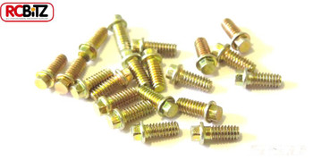 M2 Scale Hex Bolts for SSD wheels 20 5mm Bolt Yellow Zinc Plated SSD00028 SSD-RC