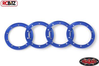 "BLUE 1.9"" Universal Beadlock Rings 4 D1 D2 Wheel System RC4WD Z-S1251 rc Bitz"