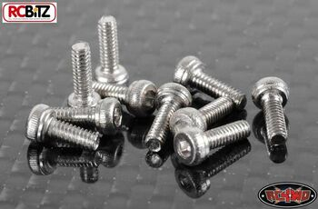 Socket Head Cap Screws M2 X 6mm 10 SILVER RC4WD Wheels R4 many uses Z-S0994 RC