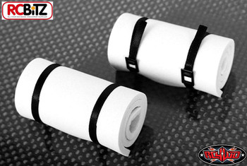 1/10 Scale Sleeping Roll Mat w/Straps WHITE Z-S1298 RC4WD Black straps 10th Toy