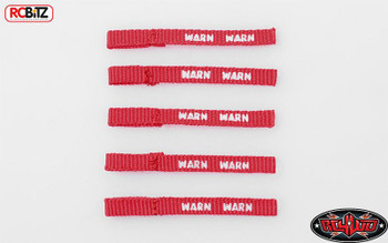 TOY RC4WD Warn Winch Pull Tags RED Pack of 5 Scale Detail Z-S1660 Accessory