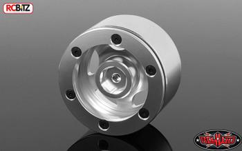 """Breaker 1.9"""" Beadlock Wheels 12 mm Hex mount SILVER Alli RC4WD Z-W0288 Blazer"""