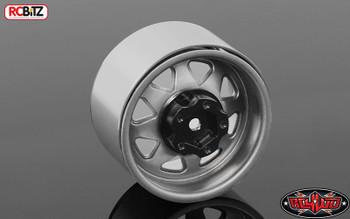 "5 Lug Deep Dish Wagon 1.9"" Steel Stamped Beadlock Wheels PLAIN RC4WD Z-W0244 Silver Grey"