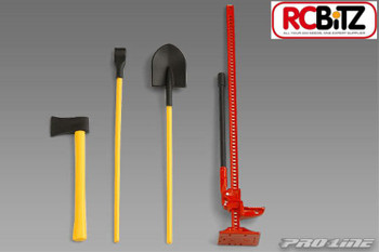 ProLine Scale Accessories TOOLS High Lift Jack Shovel Axe Pry Bar Easy to paint