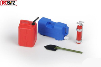 Water Jug, Fuel Can, Extinguisher, Shovel Scale Accessory Assortment #7 ProLine