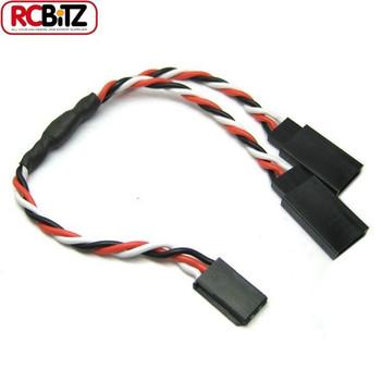 Etronix 22AWG Futaba Twisted Y Extension Wire Servo ESC Lead Cable 30 cm ET0753