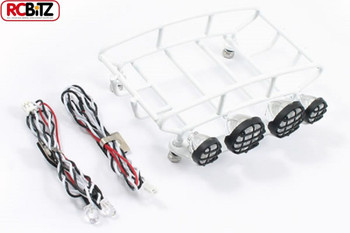 Fastrax Small Rounded Luggage Tray with 4 Light Set WHITE FAST308-SW rack FTX RC