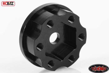 "1.9"" 2.2"" 6 Lug Steel Wheel Hex Hub +3 Offset Make WIDER Axle Width RC4WD Black"