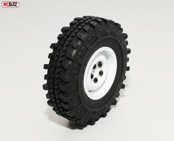 "1.9"" Single Landies Internal Beadlock Spare Wheel White alluminium RC4WD Z-Q0028"