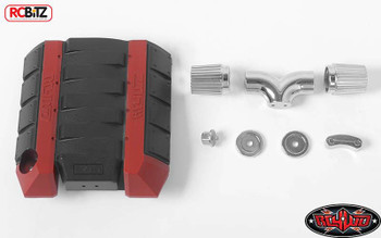 RC4WD V8 Scale Engine Cover w/ Metal Intake R3 Transmission Z-S1749 RC TF2 K5