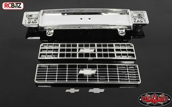 RC4WD Chevrolet Blazer Chrome Front Grill w/ Optional Plastic Inserts Z-B0124 K5
