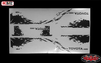 RC4WD Dirty Stripes Mojave TF2 Door Decal Sticker Sheet Black Logo Hilux Z-B0141