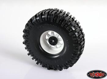 "RC4WD 6 Lug Wagon 2.2"" Steel Stamped Beadlock Wheels WHITE Pin Mounting Z-W0146"