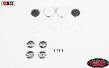 1/10 Hella Style Lights w/ Covers 4 Buckets Spot Fog Roll Bar Cchand VVV-C0365