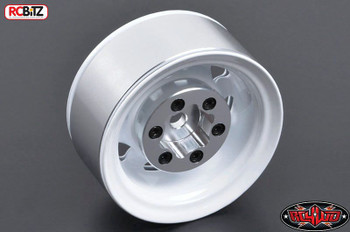 "Stamped Steel Single 1.55"" Stock White Beadlock Wheel Z-Q0009 RC4WD TF2 Spare"
