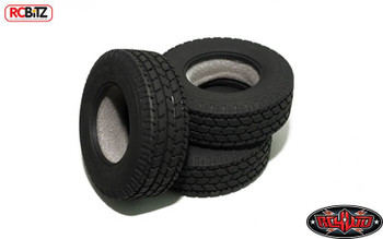 """Roady Super Wide 1.7"""" Commercial 1/14 Semi Truck Tires RC4WD Z-T0072 Tamiya 14th"""