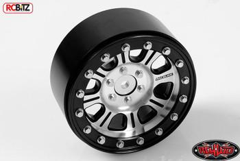 """RC4WD Raceline Monster 2.2"""" Beadlock Wheels Z-W0174 Axial Bomber Silver / Black"""