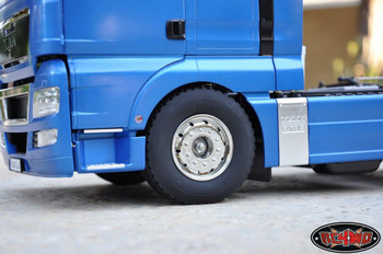 """Hauler Super Wide 1.7"""" Commercial 1/14 Semi Truck Tires Lorry Tyres Tamiya"""