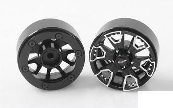 "RC4WD Ballistic Offroad Havoc 1.7"" Beadlock Wheels Z-W0224 BLACK inc Hubs rcBitz"