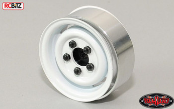 1.55 Landy Vintage Stamped Steel Beadlock Wheels White Land Rover Scaler vintage