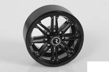 "RC4WD Raceline Octane 2.2"" Beadlock Wheels BLACK bolts & Hubs Decals Z-W0184"