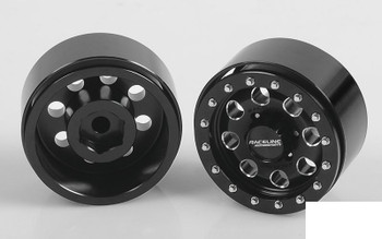 "RC4WD Raceline Havoc 1.55"" Beadlock Wheels Z-W0205 BLACK 8 hole TF2 G2 Wheel"