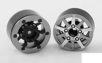"Vapor 1.55"" Beadlock Wheels RC4WD Z-W0206 Grey Silver rc 4WD TF2 G2 rcBitzLtd"