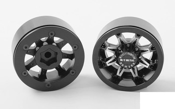 "RC4WD Mickey Thompson MT Metal Series MM-164M 1.9"" Wheels Z-W0249 RC Black"
